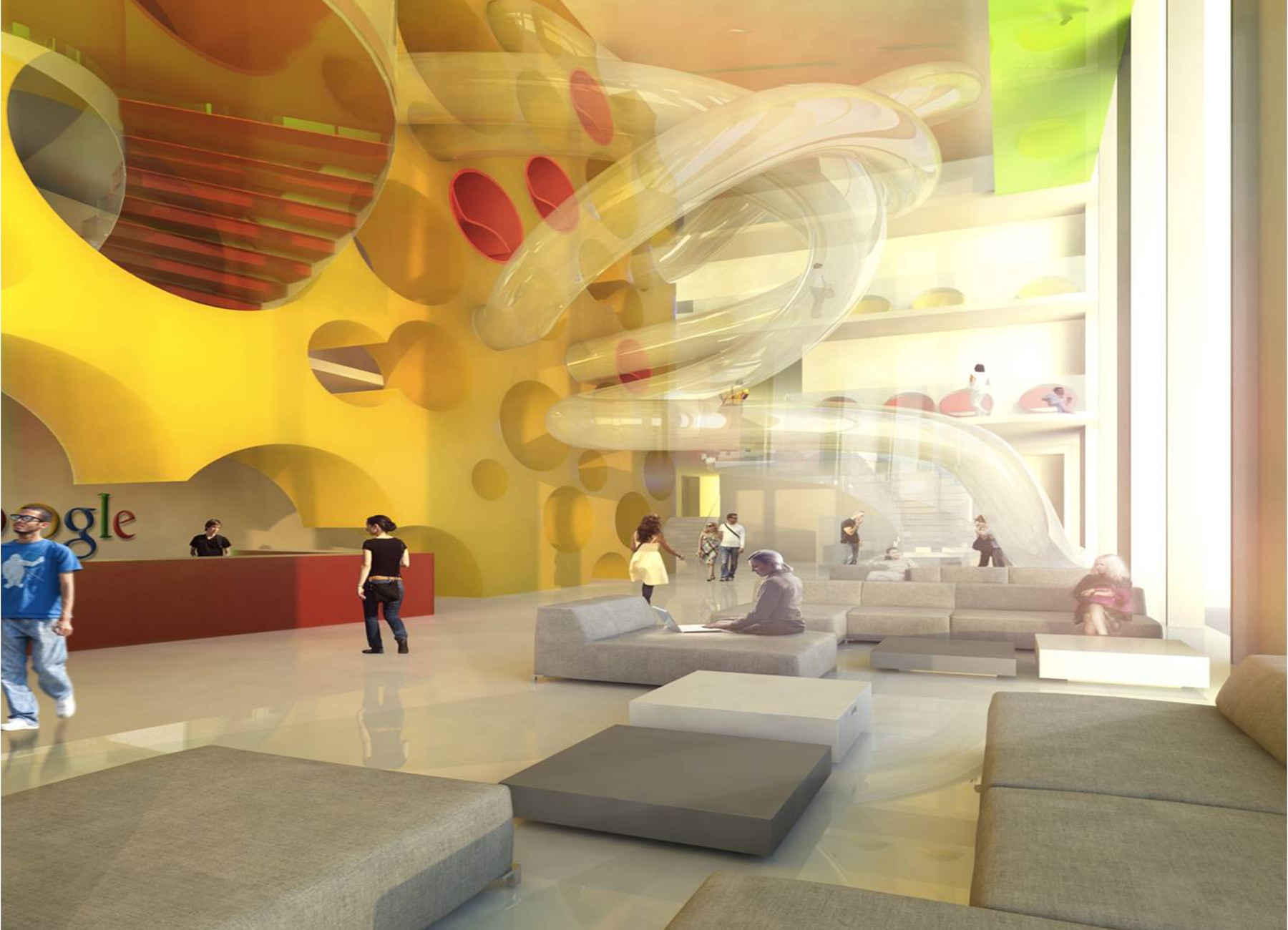 Google office campus masterplan foyer concept