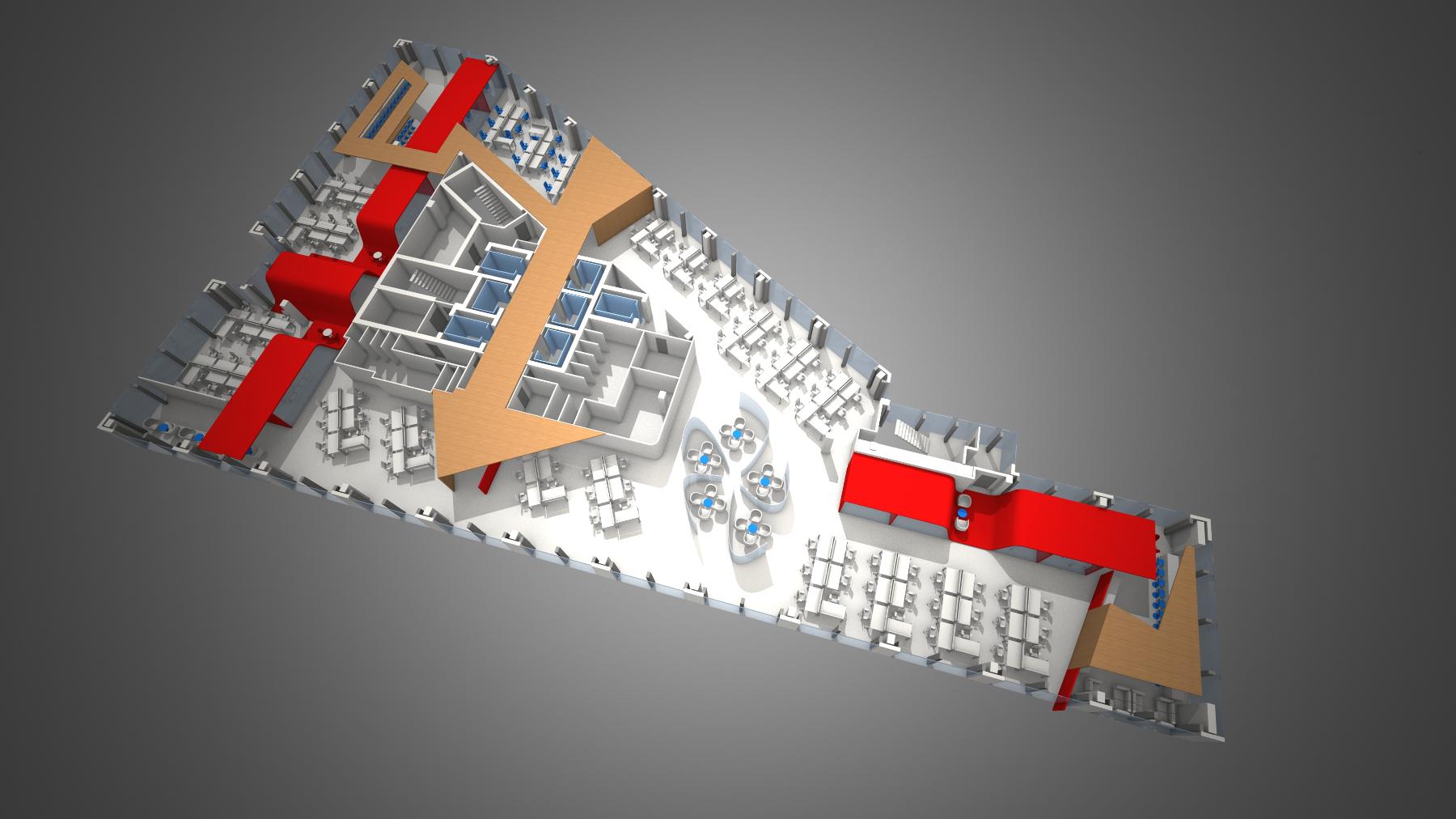 Google office campus masterplan upper levels