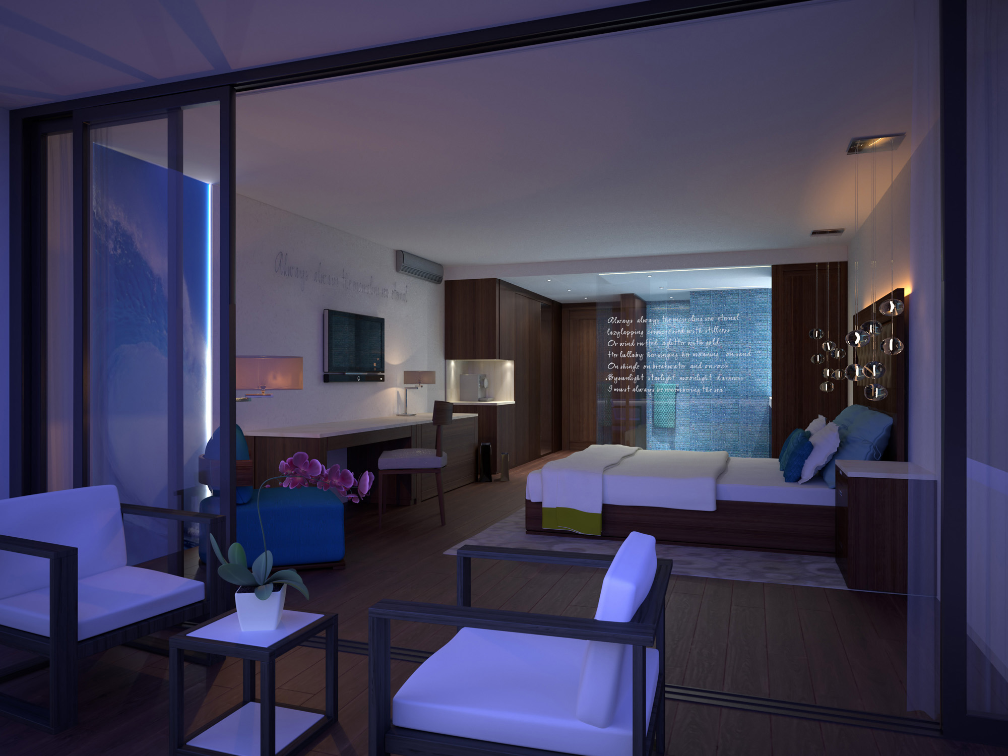 Hotel Design-H Barbados-Room Ocean Night
