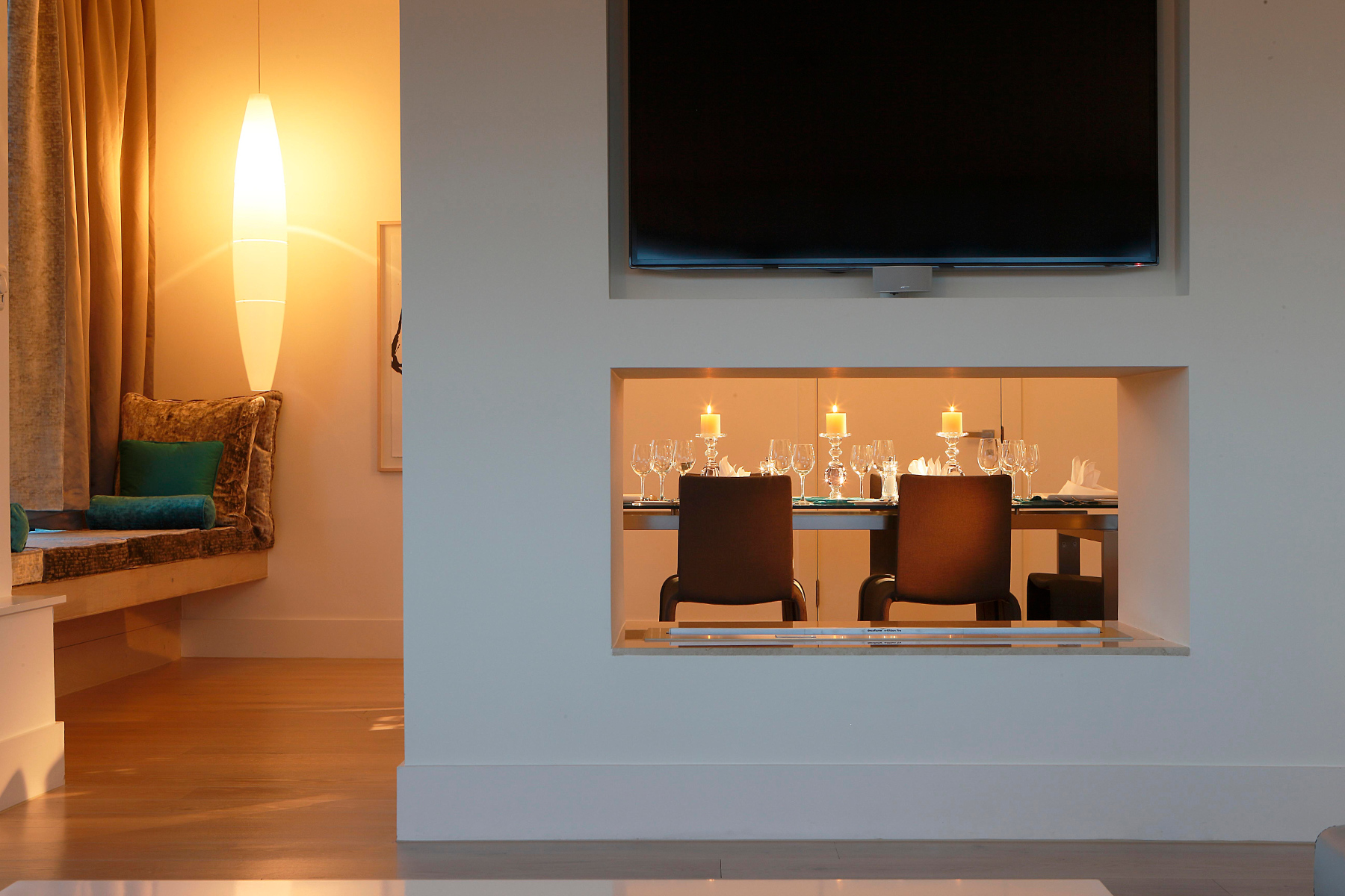 Hotel Fitout-Morrison Hotel-Penthouse Fireplace