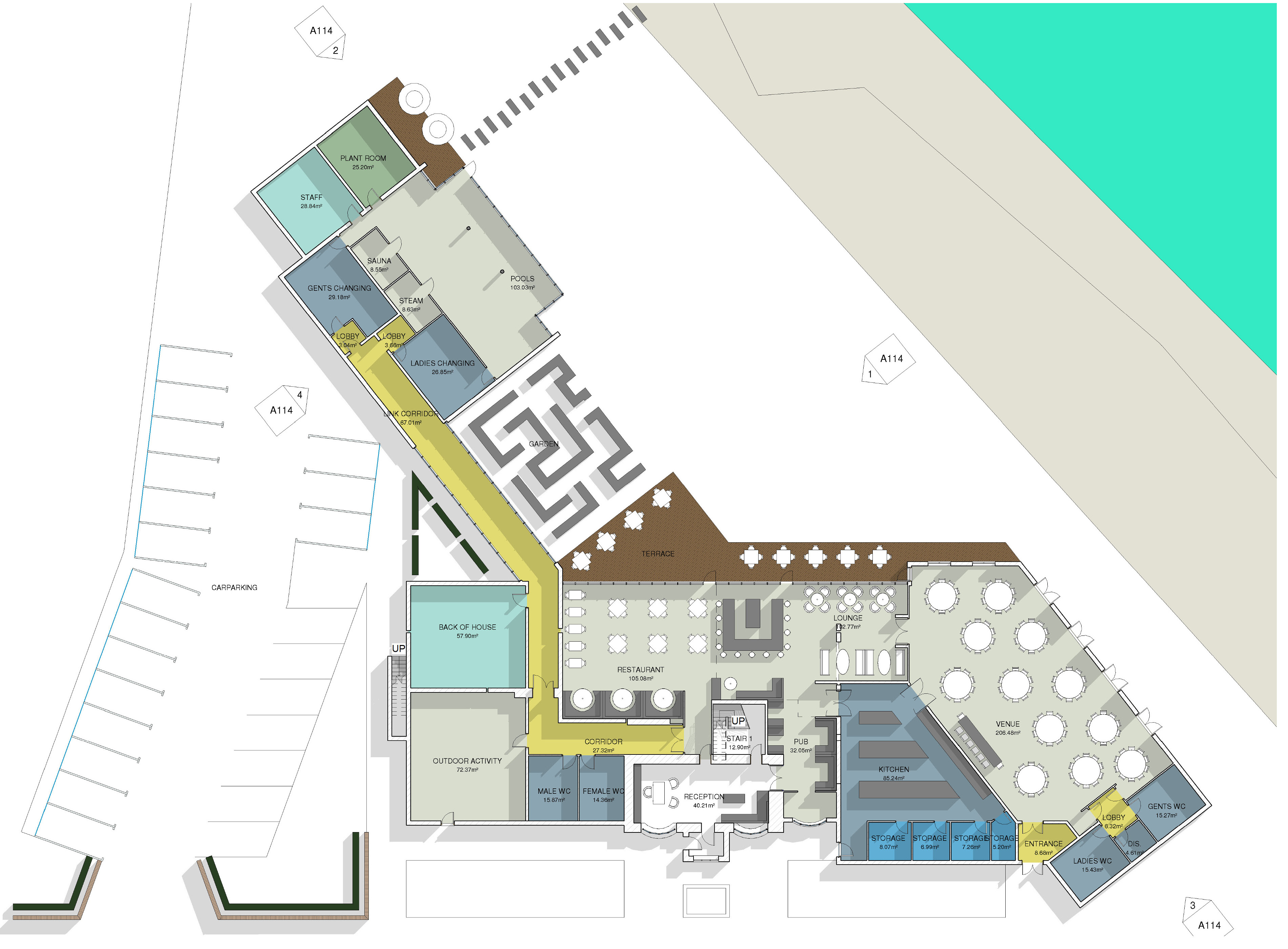 Hotel Fitout-Smugglers Inn-Floor Plan