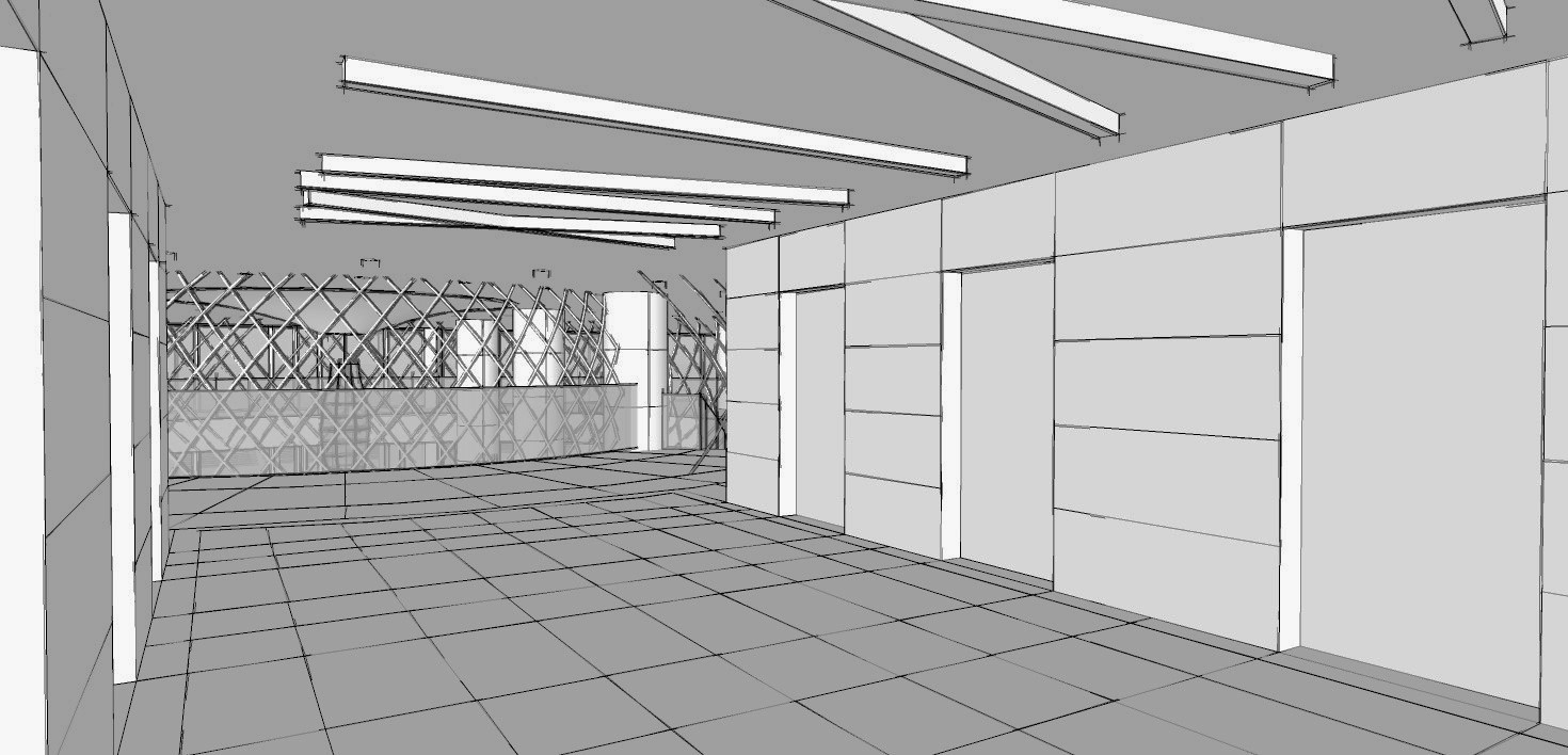 Hotel Fitout-Vietnamese Cultural Centre-Concept Lift Lobby