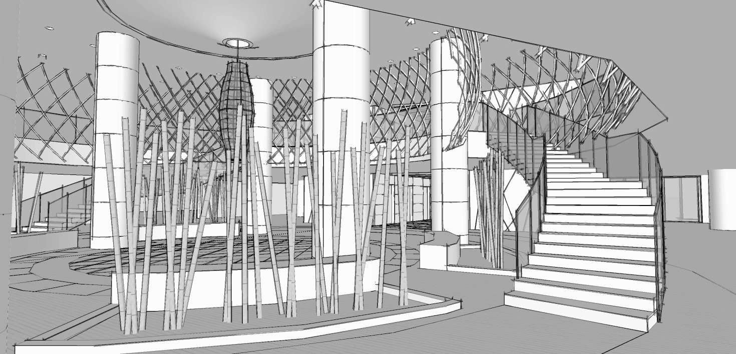 Hotel Fitout-Vietnamese Cultural Centre-Concept Staircase