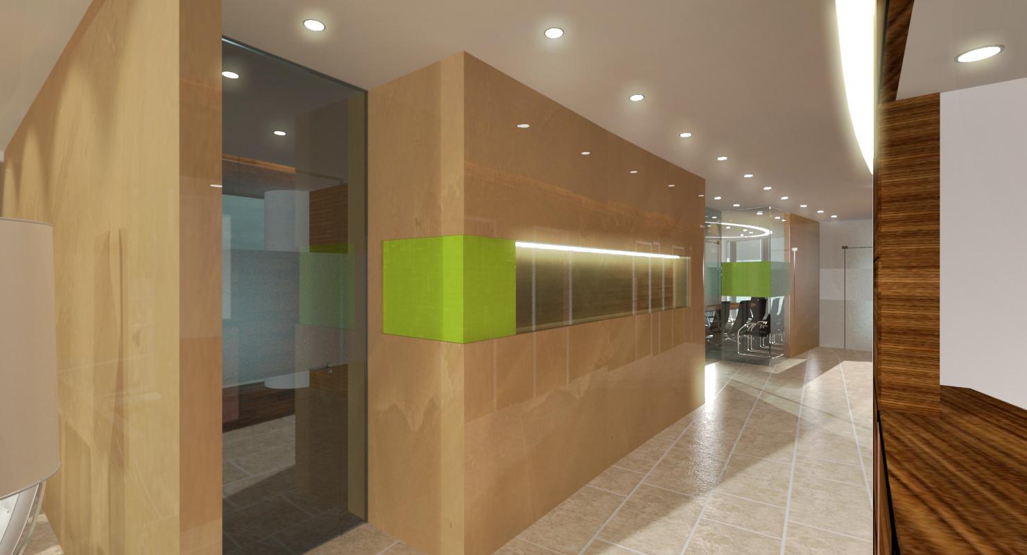 Office Fitout_SMBC Bank Moscow_Corridor Concept