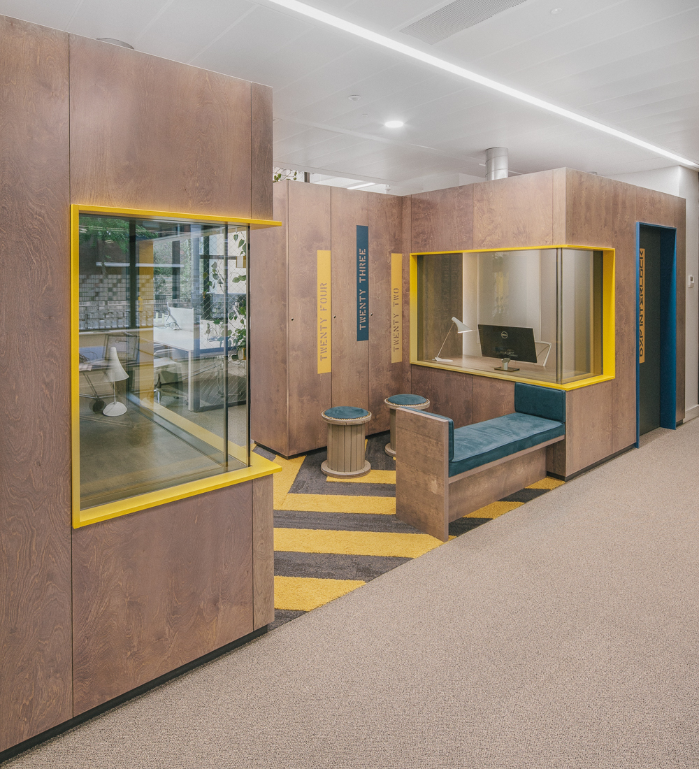 Office fitout -Liferay-central spine