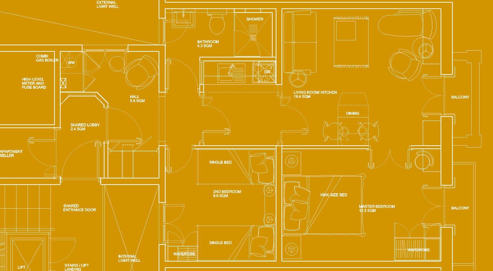 Plan layout apartment
