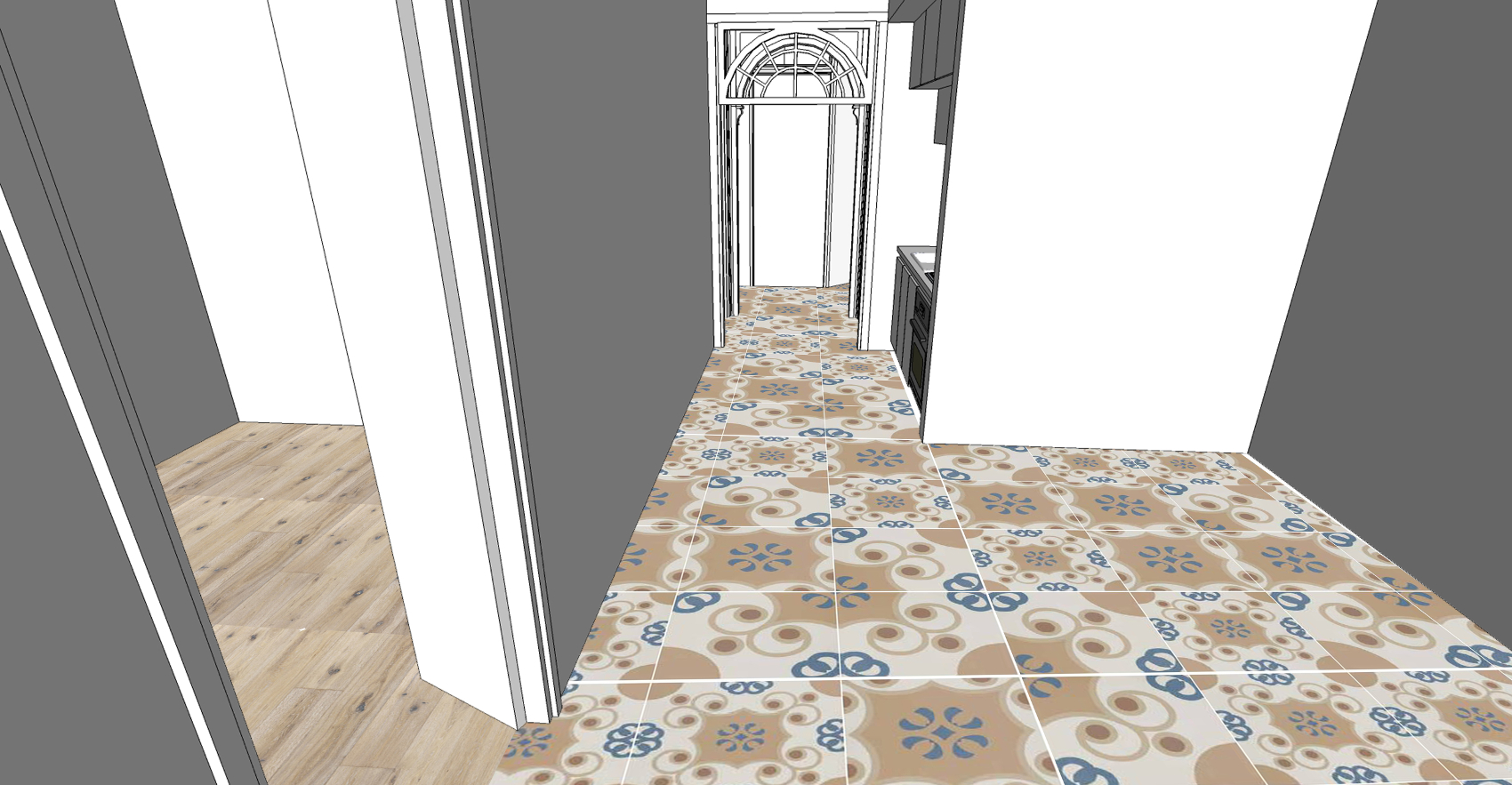 Residential-Apartment Barcelona-Concept Floor Finishes